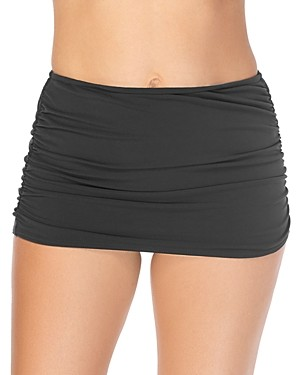 Magicsuit Solid Shirred Skirted Bottom