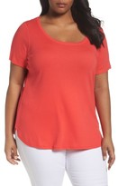 Sejour Plus Size Women's Scoop Neck Tee