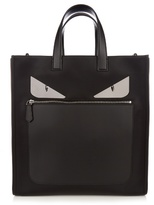 Fendi Bag Bugs Nylon And Leather Tote