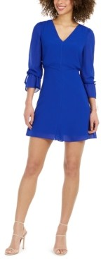 Vince Camuto Petite Tie-Sleeve Dress