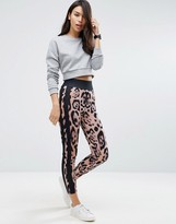 Asos Leopard Print Leggings with Side Stripe