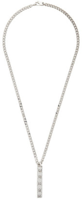 Gucci Silver Ghost Bar Necklace
