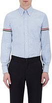Thom Browne Men's Cotton Appliquéd Shirt-LIGHT BLUE