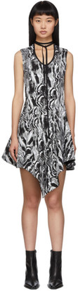 Thierry Mugler Black and White Tapestry A-Line Dress