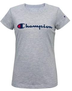 Champion Little Girls Short Sleeve Signature Script Graphic Tee
