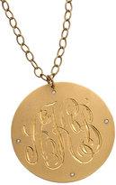 Large Gold Monogram Necklace
