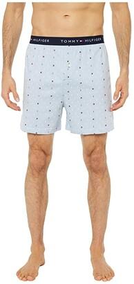 Tommy Hilfiger Single Hanging Knit Boxer (Blue Crystal) Men's Underwear