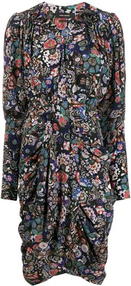 Isabel Marant floral print shirt dress