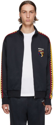 Missoni Navy Zip-Up Crest Sweater