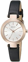 DKNY Women's NY2458 Stanhope Stainless Steel Casual Watch With Black Leather Band