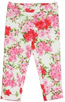 Miss Blumarine Floral Printed Cotton Sateen Pants