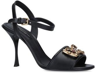Dolce & Gabbana Leather Kiera Sandals 85