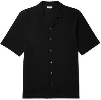 Sunspel Camp-Collar Cotton-Pique Shirt