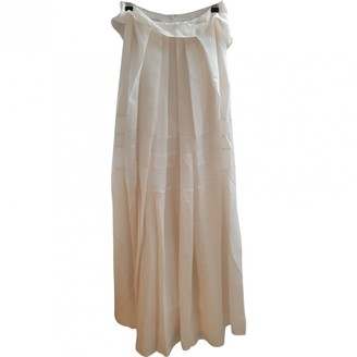 Philosophy di Alberta Ferretti White Silk Skirt for Women