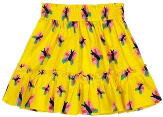 Stella McCartney Kids Butterfly-print organic cotton skirt