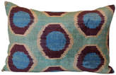 Orientalist Home Iza Ikat 16x24 Pillow - Blue