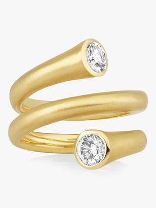 Carelle Whirl Diamond Spiral Ring