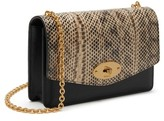 Mulberry Small Darley Convertible Genuine Snakeskin & Leather Clutch - Beige