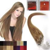 Hope 16'' Straight Loops Micro Ring Beads Tipped Human Hair Extenions 100S 16 Ash Blonde Women Beauty Hairsalon Style Design 0.4g/s