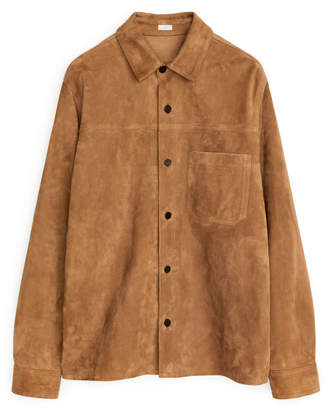 Arket Suede Leather Overshirt