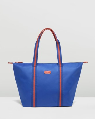 Lipault Paris - Women's Blue Tote Bags - Lady Plume Bi-Colour Tote Bag Medium - Size One Size at The Iconic