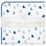 Swaddle Designs Little Chickies Flannel Swaddling Blanket in Blue