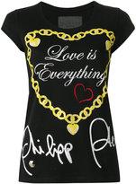 Philipp Plein Love Is Everything T-shirt - women - Cotton - XS