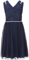 Xtraordinary Big Girls 7-16 Double Strap Glitter Lace Dress