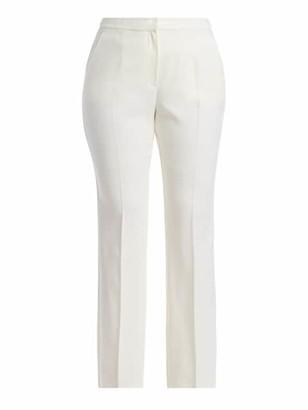 Marina Rinaldi, Plus Size Regolare Wide-Leg Stretch-Wool Trousers