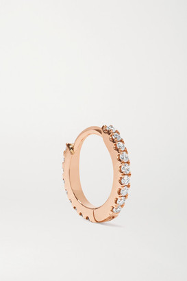 Maria Tash 6.5mm 18-karat Rose Gold Diamond Hoop Earring