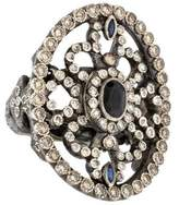 Armenta Diamond & Sapphire Shield Ring