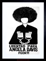 The Art Stop AD POLITICAL ANGELA DAVIS CIVIL RIGHTS PANTHER CHILE FRAMED PRINT F97X5888