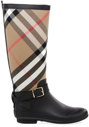 Burberry Simeon Knee-High Rubber Riding Boots