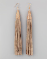 Eddie Borgo Tassel Earrings, Beige
