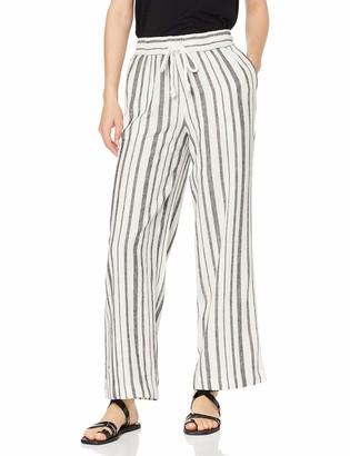 Find. Amazon Brand Women's Wide Leg Linen Trousers
