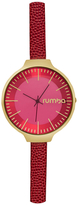 RumbaTime Orchard Leather Merlot Dial Watch, 35mm