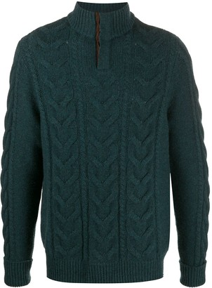N.Peal Buttoned Chunky Knit Jumper