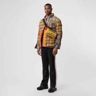 Burberry Short-sleeve Colour Block Vintage Check Cotton Shirt