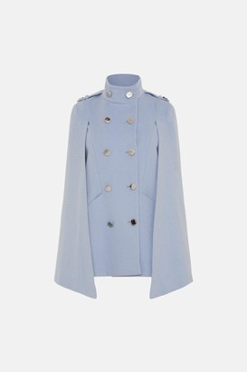 Karen Millen Italian Wool Rich Military Cape