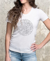 Etsy Women's TriBlend T-Shirt - Zodiac and Stars Chart - Women's American Apparel Tee