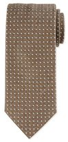 Eton Micro Dot-Print Silk Tie, Brown