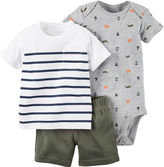 Carter's 3-pc. Bodysuit and Shorts - Baby Boys newborn-24m