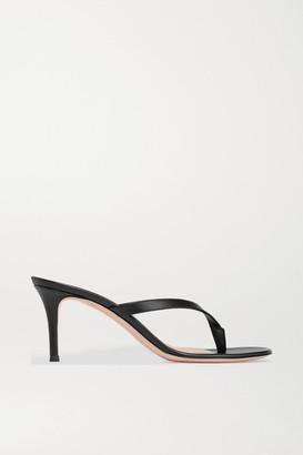 Gianvito Rossi Calypso 70 Leather Sandals - Black