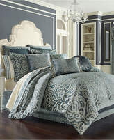 J Queen New York J. Queen 4-Pc. New York Sicily Teal Queen 4-Pc. Comforter Set Bedding