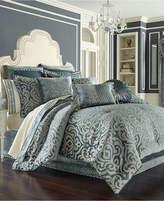 J Queen New York Sicily Teal Queen Comforter Set