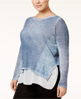 INC International Concepts Plus Size Layered-Look Sweater, Only at Macy's