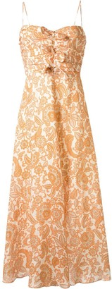 Zimmermann Peggy sweetheart-neck dress
