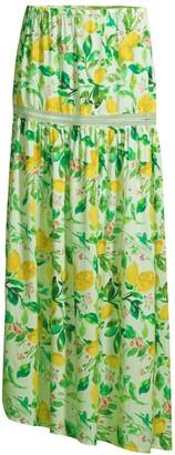 Mila Louise Lemon Slit Skirt