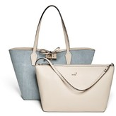 GUESS Bobbie Denim Inside-Out Tote