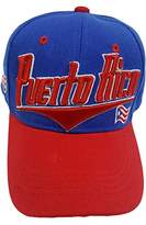 TP Puerto Rico Two Tone Flat Flash Style Baseball Cap